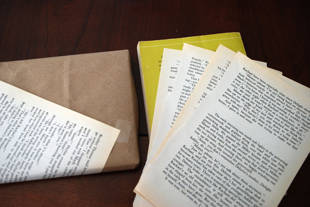 Wrapping Paper For Books Book in Brown Paper From a